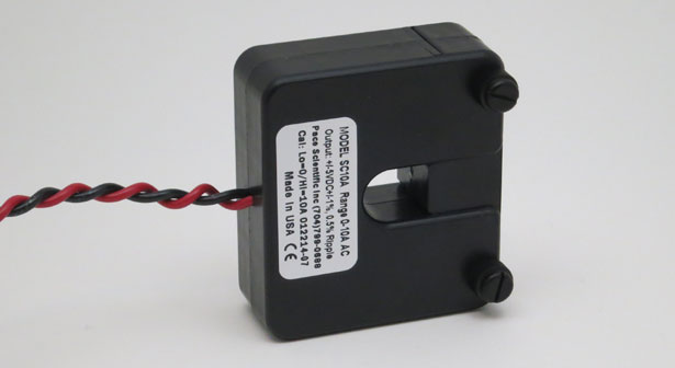 AC Current Sensor, 0-10 amp, self-powered, with 0-5vdc output - Pace Scientific